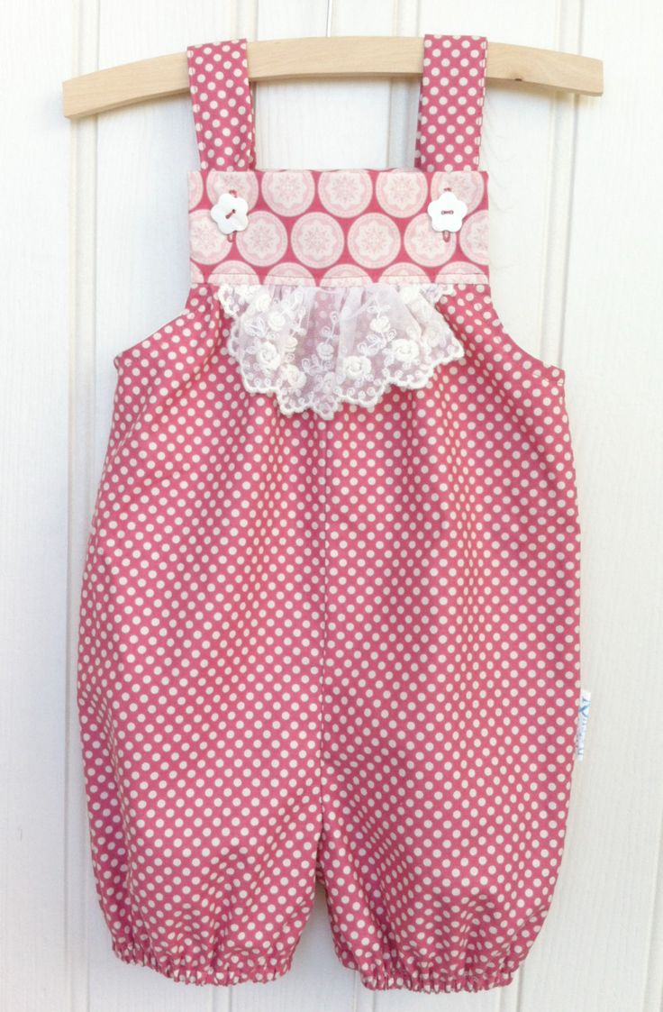 Ivy Vintage Dungarees /Girls Dungarees/ Baby Girl Dungarees / Girls Playsuit / Girls Romper / Short Length Leg/ Age 3 months - 4 years by KateandDaisyHandmade on Etsy