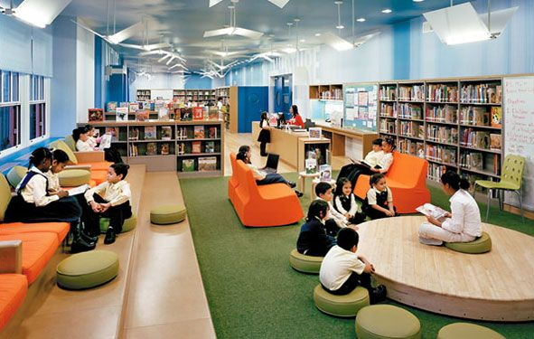 unique school libraries | Gluckman Mayner Architects's New York public-school library, funded by ...