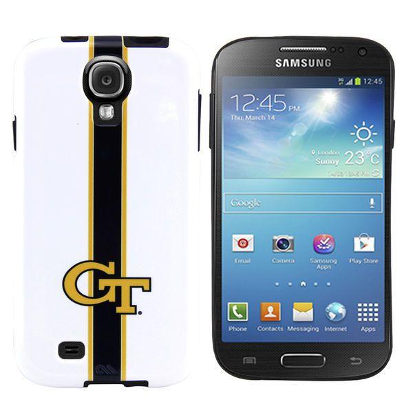 Georgia Tech Yellow Jackets Samsung Galaxy S4 Tough Smooth Helmet Case - White - $19.99