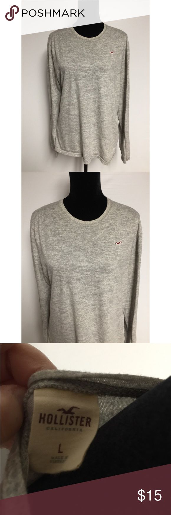 Hollister men's long sleeve top size Large Gently worn hollister men's long sleeve top size large, no stains, rips or tears, light weight  and comfy  Pet/smoke free home Hollister Shirts Tees - Long Sleeve
