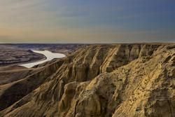 The South Saskatchewan River Canyons west of Leader Saskatchewan near the once proposed site of the Meridian Dam