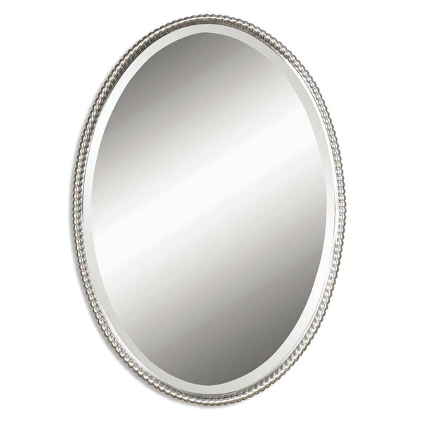 Uttermost Sherise Brushed Nickel Oval Mirror   Overstock™ Shopping   Great  Deals On Uttermost Mirrors