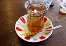 elma cai  Hot apple tea in tulip glasses is everywhere in Istanbul and is delicious.