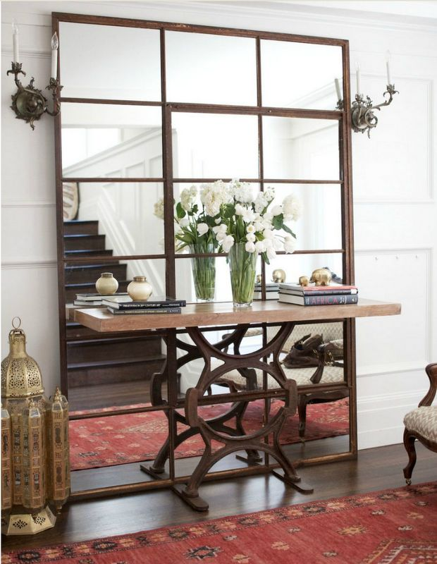 Both the mirror and table..