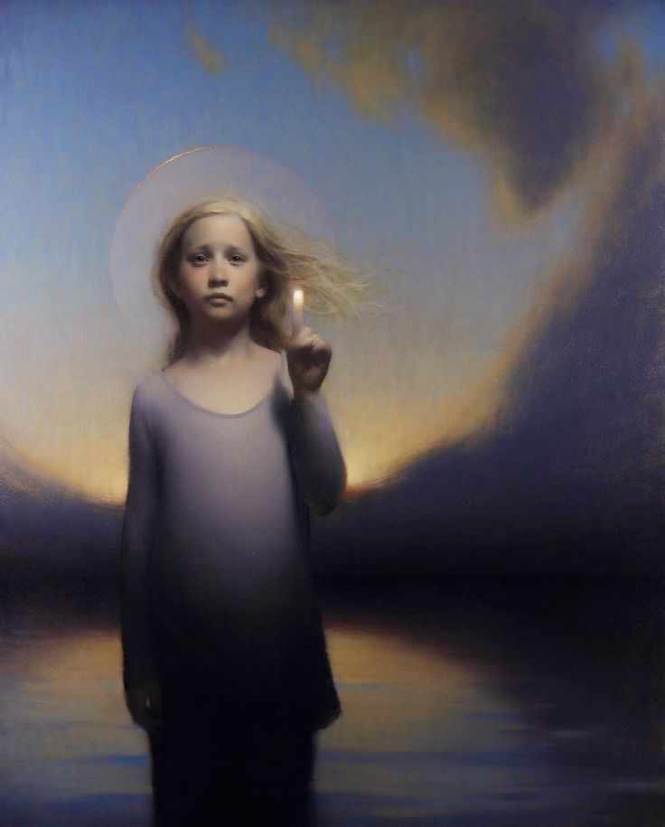 Stephen Bauman - When I Was Young 2014  #21st #Contemporary #Painting #Stephen #Bauman #Girl #Holy #Child