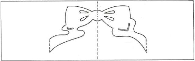 Шаблоны киригами для начинающих бант
