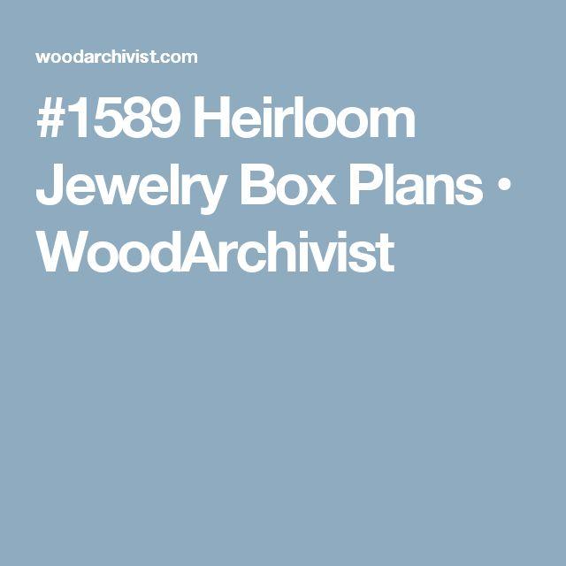 17 best ideas about Jewelry Box Plans on Pinterest | Jewelry box ...