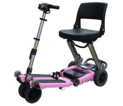 Pink Folding FreeRider USA FR168-4IT Elite Luggie with Charger and Armrest Set