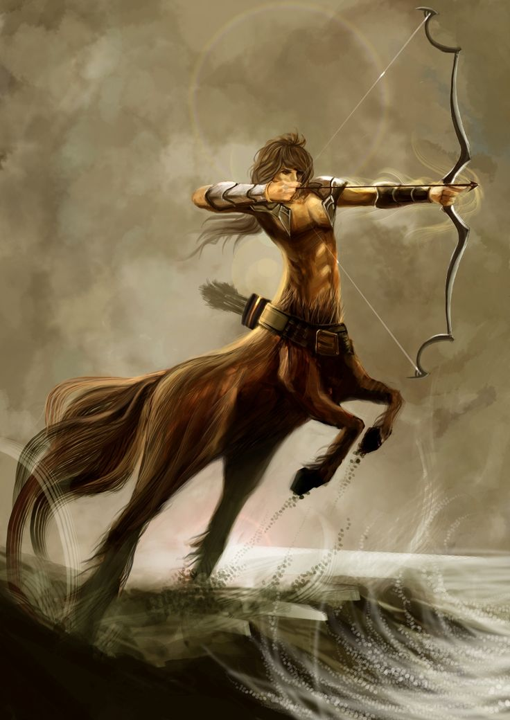 CENTAURS - One of a race of monsters having the head, arms, and trunk of a man and the body and legs of a horse.