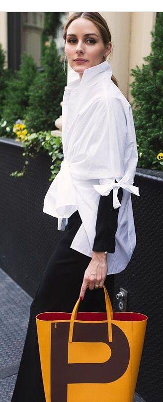 Visibly Interesting: Ms. Olivia's chic white shirt