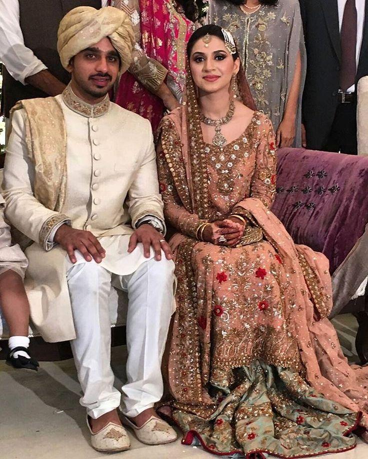 """The bride and groom #RaheelPaul #AylaZaidi #Karachi #Rahyla"""