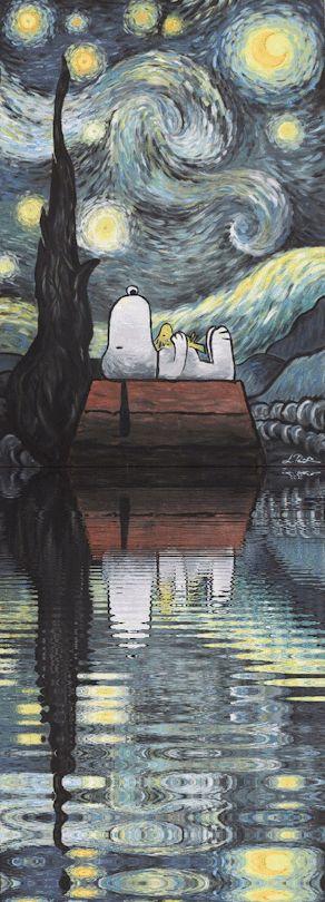 """"""" La nuit étoilée de Snoopy """""""