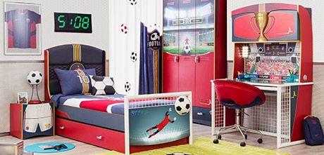 @cilekkidsroom -  IHFC M231, Football themed room #DesignOnHPMkt #HPMKT #youthfurniture