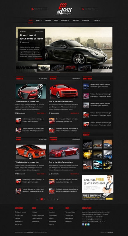 Joomla website perfect for Model Cars Web Presentation.