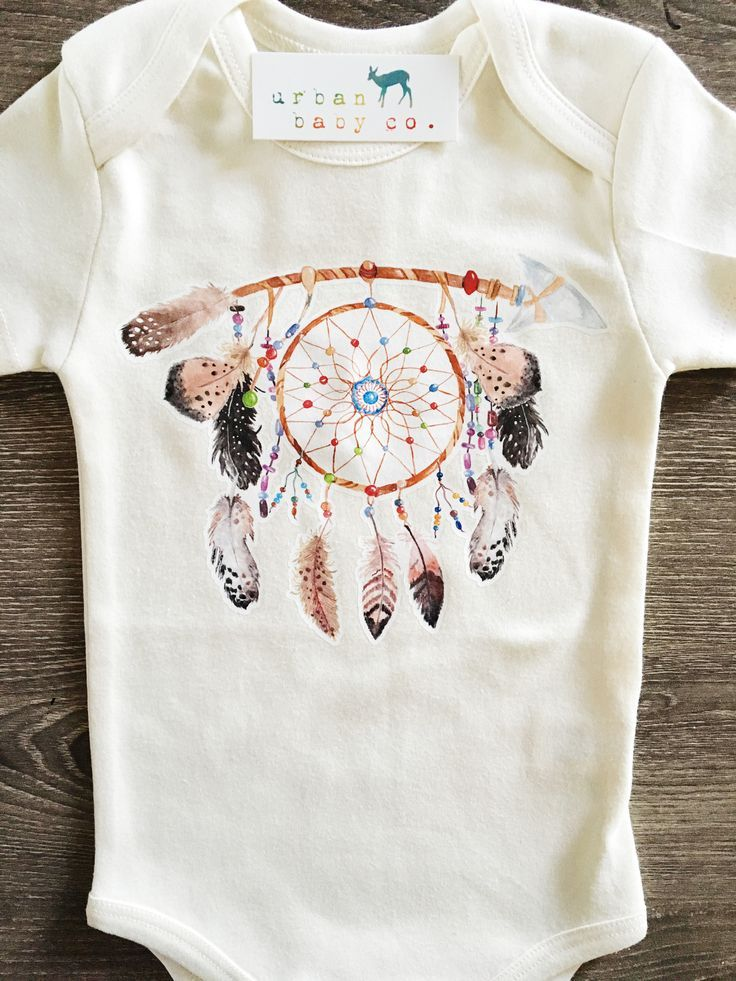 Buy from: https://www.romperbaby.com Dreamcatcher, Boho, Baby, Boy, Girl, Unisex, Gender Neutral, Infant, Toddler, Newborn, Organic, Bodysuit, Outfit, One Piece, Onesie®, Onsie®, Tee, Layette, Onezie®