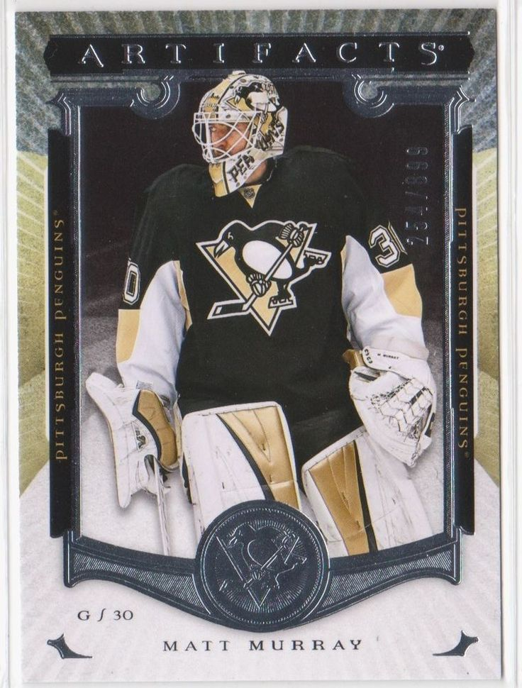 15-16 UD ARTIFACTS/REDEMPTION ROOKIE #219/MATT MURRAY/STAMPED #254/899 RARE!!! #PittsburghPenguins