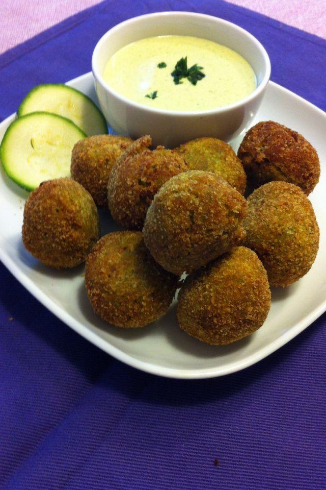 #falafel con farina di ceci e zucchine