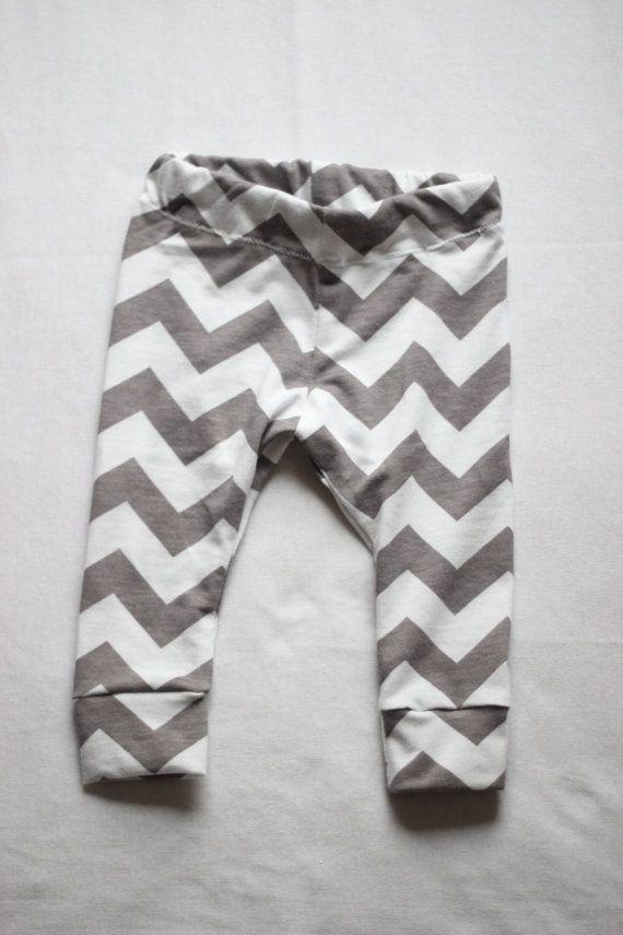 Gray Chevron Baby Leggings OR Shorts // Trendy Clothing , Spring , Girls Boys Leggings , Infant , Toddler , Photo Prop , Baby Shower Gift on Etsy, $17.00
