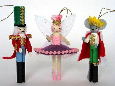 Cute Craft Tutorials, Handmade Toys, Printable Crafts, Kawaii Plush by Fantastic Toys: Nutcracker Clothes Pin People Ornaments