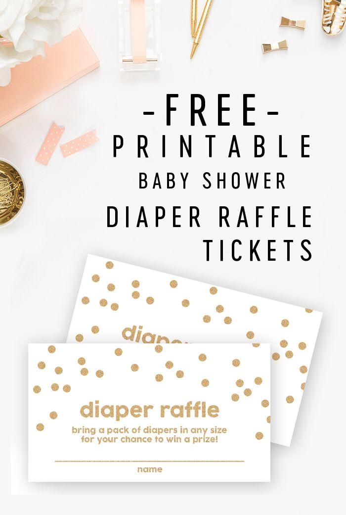 Free Baby Shower Printable Gold Glitter Diaper Raffle Tickets Printable Market B Baby Shower Diaper Raffle Baby Shower Diaper Raffle Tickets Diaper Raffle