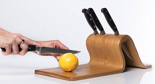 knifeblock cutting board Knife Block with Cutting Board
