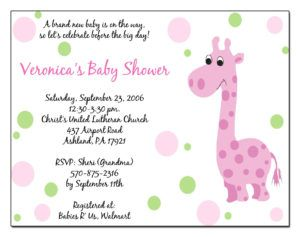 Email Baby Shower Invitations Templates