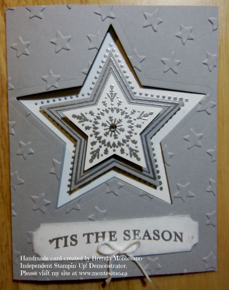 Holiday card made using Stampinu0027 Up Many