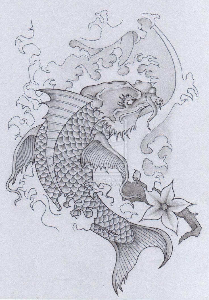 Best 25 koi dragon tattoo ideas on pinterest dragon koi for Japanese koi design