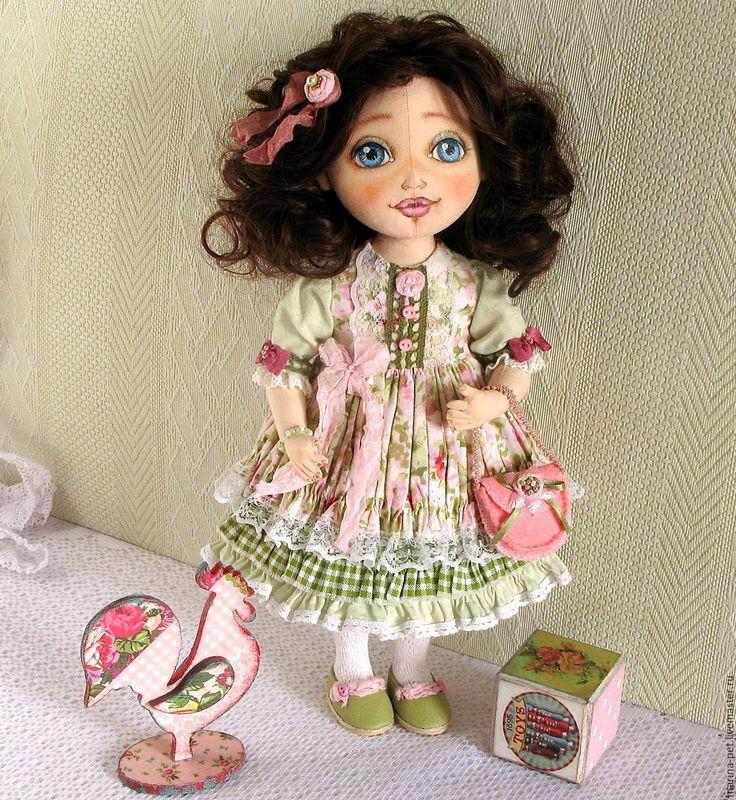 Купить Текстильная кукла Лера - салатовый, текстильная кукла, кукла текстильная, кукла, кукла в подарок