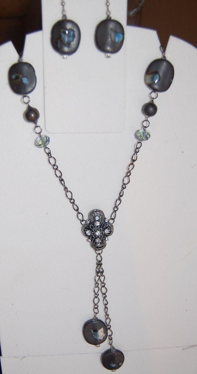 Jewelled Designs - brown semi precious stone drop necklace set, $75.00 (http://www.jewelleddesigns.com/brown-semi-precious-stone-drop-necklace-set/)
