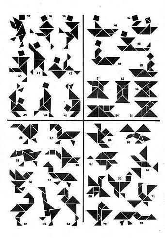 * Soluciones del Tangram 2-6