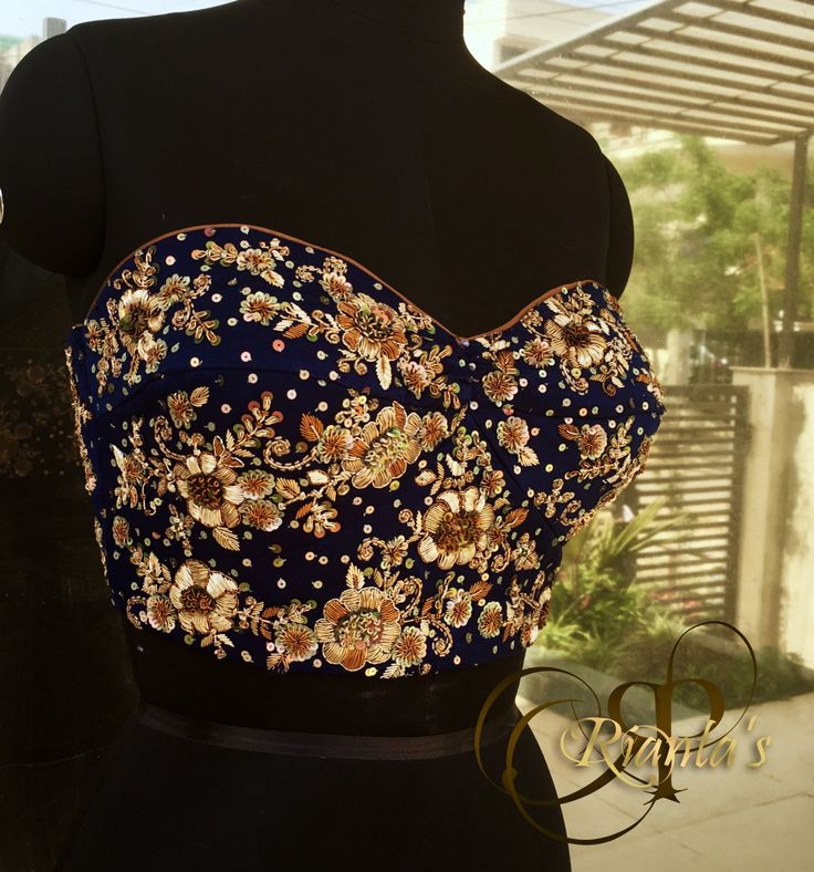 ''Luxury is in the details''. Rianta's heavily embroidered bustiers for special occasions.