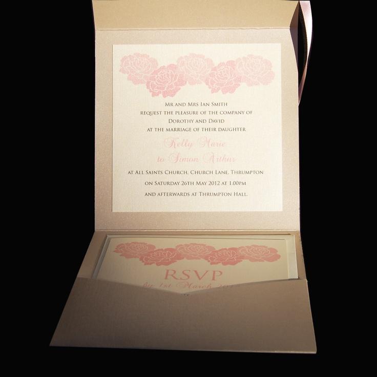 Fold out Wedding Invitation - soft color palette