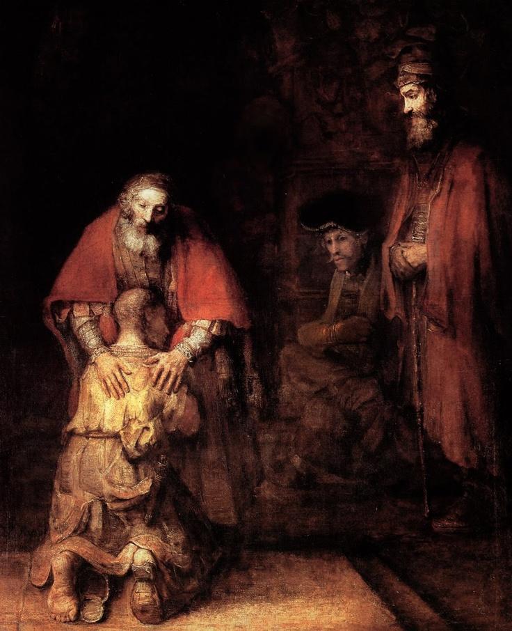 REMBRANDT - Rembrandt Harmenszoon VAN RIJN - Dutch ( Leiden 1606-1669 Amsterdam) - the lost son (New Testament)