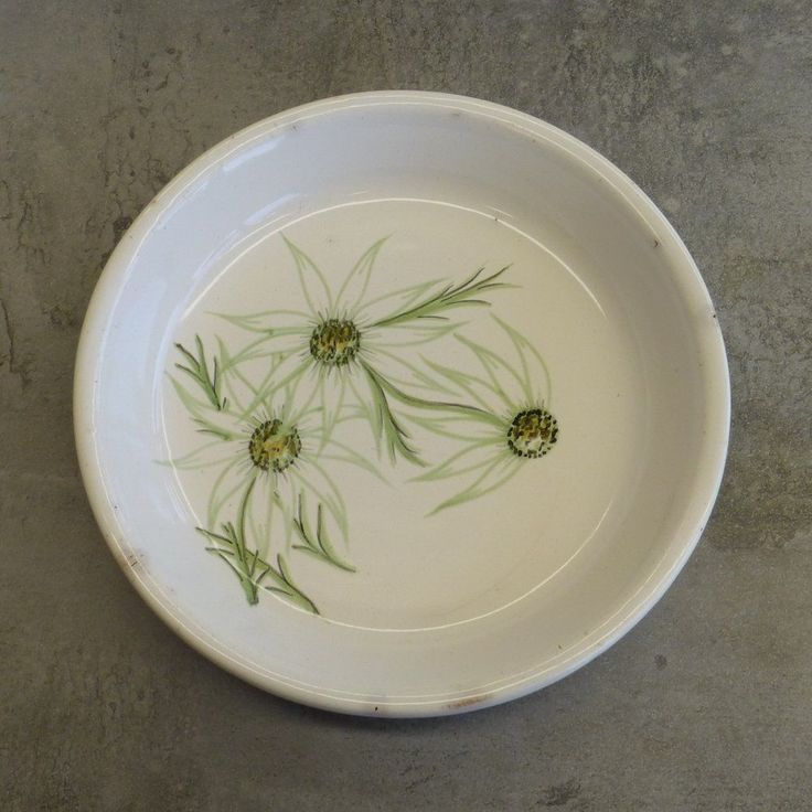 Vintage Diana Pottery 'Flannel Flowers' Pie Dish Made in Australia