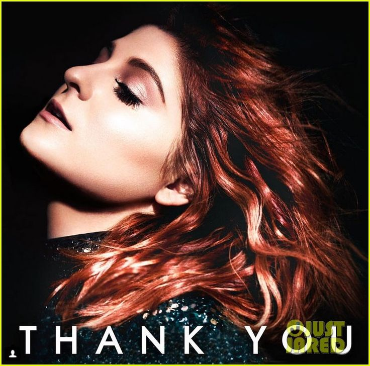Meghan Trainor Shows Off Red Hair on New 'Thank You' Album Cover!: Photo #936829. Meghan Trainor just revealed the gorgeous cover of her upcoming album Thank You!    The 22-year-old