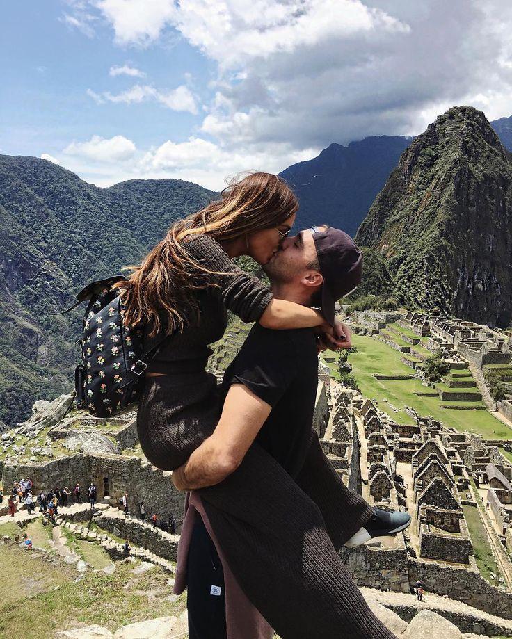 Negin Mirsalehi and Maurits Stibbe at Machu Picchu
