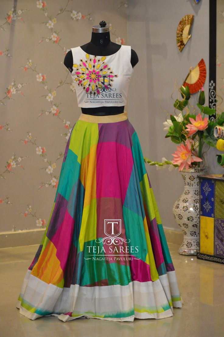 TS1LH9-158 AUGMulti colour pure Ikkat pattu skirt For queries/ price detailsWhats App us on8341382382 Reach us on8790382382 orplease mail us attejasarees@yahoo.com www.tejasarees.com tejasarees LikeNeverBefore Croptops ufffd ufffdhandloomsufffd ikkat Stay Amazed!!!Team Teja! 26 August 2016