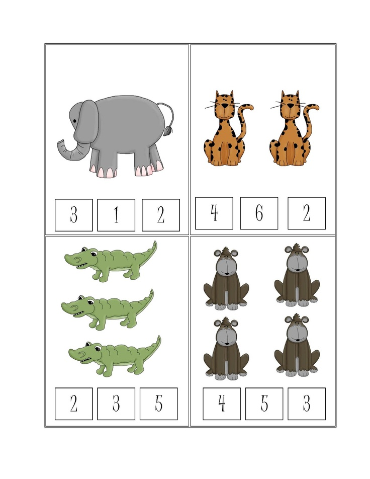 Preschool Printables: Free Safari Printable