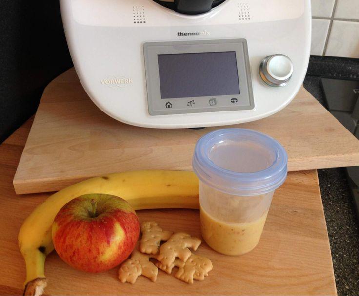Rezept Apfel - Banane - Butterkeks Brei von FallOut90 - Rezept der Kategorie Baby-Beikost/Breie