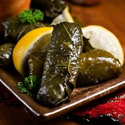 how to eat grape leaves stuffed with rice