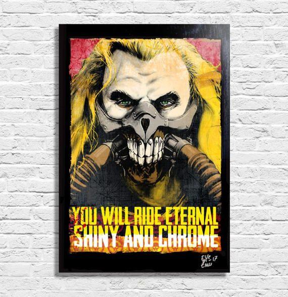 Immortan Joe from Mad Max Fury Road  Original framed fine art