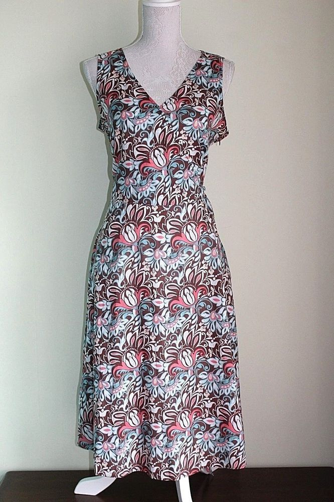 Size 12 EU 40 CASUAL CLUB DEBENHAMS Dress Holidays Summer V-Neck Cotton 3 #Debenhams #TeaDress #Casual