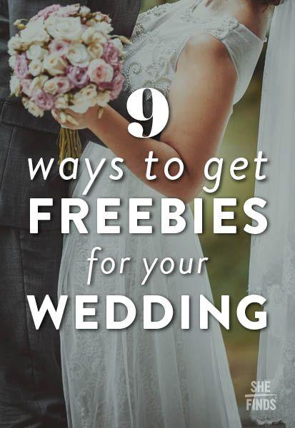 Best 25 wedding freebies ideas on pinterest wedding hacks diy 9 ways to get freebies for your wedding junglespirit Choice Image