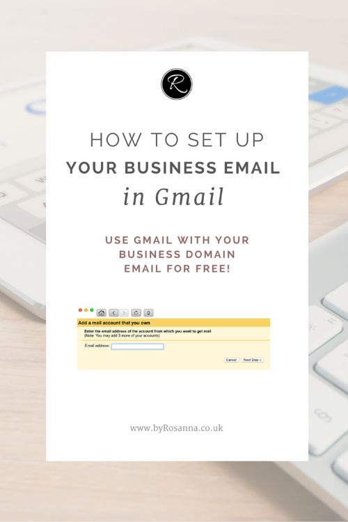 How to set up your business email on gmail!