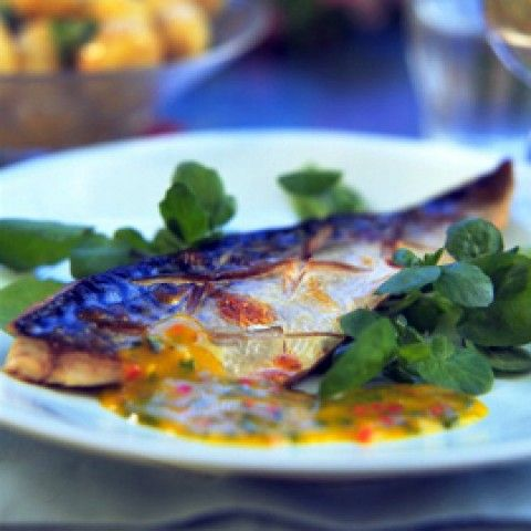 Phil Vickery's Grilled Mackerel with Mango and Chilli Dressing - Woman And Home