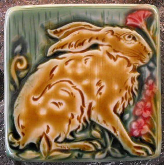 Custom Made Medieval Hare Tile