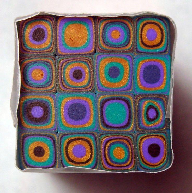 Handmade Polymer clay Klimt/ Retro Cane | Flickr - Photo Sharing!