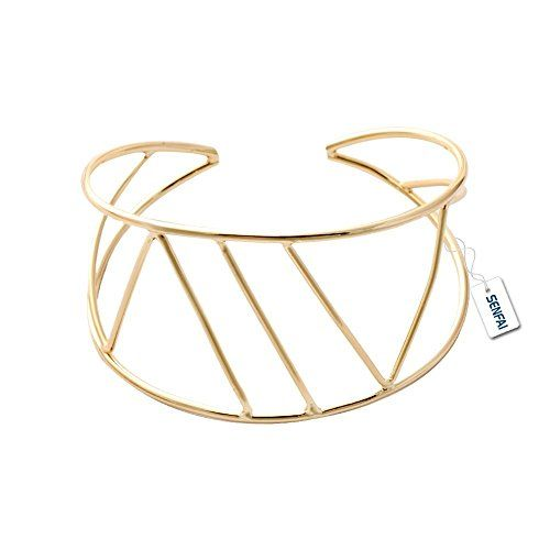 Geometric cuff bangle ✨ Shop the Bling collection here: http://amzn.to/2lj9uVW ✨