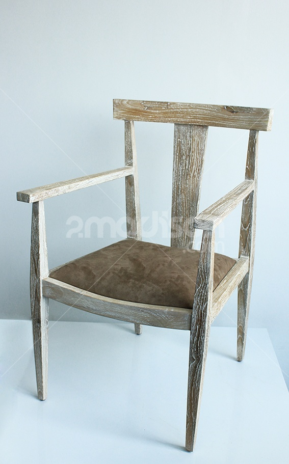 A beautiful Suede Saddle Dining Chair With Arm Rest from designer by 2madison. Luv it!